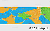 Political Panoramic Map of Tharrawaddy