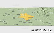 Savanna Style Panoramic Map of Tharrawaddy