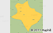Savanna Style Simple Map of Tharrawaddy