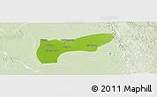 Physical Panoramic Map of Thegon, lighten