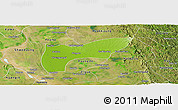 Physical Panoramic Map of Thegon, satellite outside