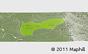 Physical Panoramic Map of Thegon, semi-desaturated