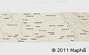 Shaded Relief Panoramic Map of Thegon