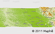 Physical Panoramic Map of Thoungoo