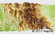 Physical Panoramic Map of Matupi