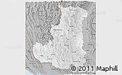 Gray Panoramic Map of Chin