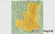 Savanna Style Panoramic Map of Chin