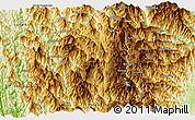 Physical Panoramic Map of Thlangtlang