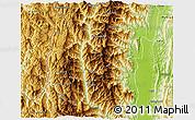 Physical 3D Map of Tiddim
