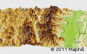 Physical Panoramic Map of Tiddim