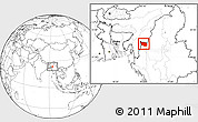 Blank Location Map of Tonzang