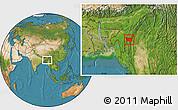 Satellite Location Map of Tonzang