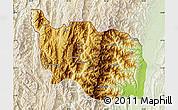 Physical Map of Tonzang, lighten