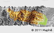 Physical Panoramic Map of Tonzang, desaturated