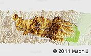 Physical Panoramic Map of Tonzang, lighten