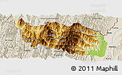 Physical Panoramic Map of Tonzang, shaded relief outside