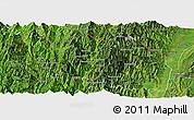 Satellite Panoramic Map of Tonzang