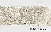 Shaded Relief Panoramic Map of Tonzang