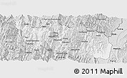 Silver Style Panoramic Map of Tonzang