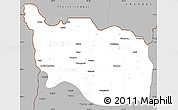 Gray Simple Map of Tonzang
