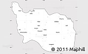Silver Style Simple Map of Tonzang, cropped outside