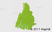 Physical 3D Map of Irrawaddy, cropped outside