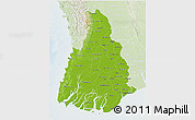 Physical 3D Map of Irrawaddy, lighten