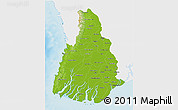 Physical 3D Map of Irrawaddy, single color outside