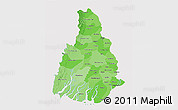 Political Shades 3D Map of Irrawaddy, cropped outside