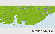 Physical Panoramic Map of Bogale