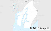 Silver Style Simple Map of Bogale
