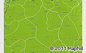 Physical Map of Danubyu