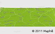 Physical Panoramic Map of Danubyu