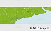 Physical Panoramic Map of Dedaye