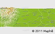 Physical Panoramic Map of Ingapu
