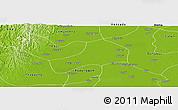 Physical Panoramic Map of Kyonpyaw