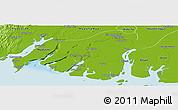 Physical Panoramic Map of Labutta