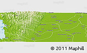 Physical Panoramic Map of Lemyethna