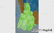 Political Shades Map of Irrawaddy, darken
