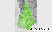 Political Shades Map of Irrawaddy, desaturated