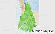 Political Shades Map of Irrawaddy, lighten