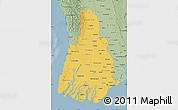 Savanna Style Map of Irrawaddy