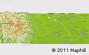 Physical Panoramic Map of Myanaung