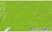 Physical 3D Map of Myaungmya