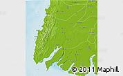 Physical 3D Map of Ngaputaw
