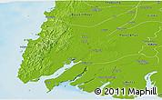 Physical Panoramic Map of Ngaputaw