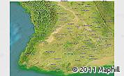 Satellite Panoramic Map of Irrawaddy