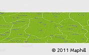 Physical Panoramic Map of Pantanaw