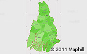 Political Shades Simple Map of Irrawaddy, cropped outside