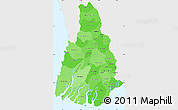 Political Shades Simple Map of Irrawaddy, single color outside